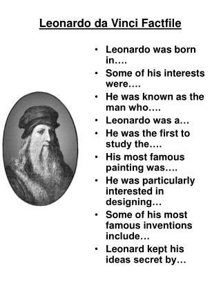 Leonardo da Vinci Factfile
