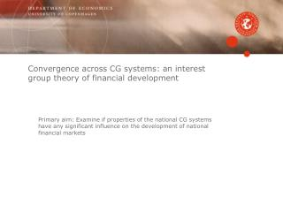 Convergence across CG systems: an interest group theory of financial development