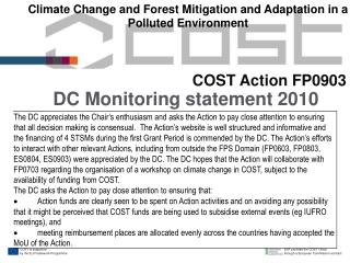 DC Monitoring statement 2010