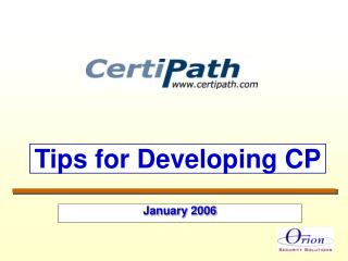 Tips for Developing CP