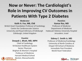 Now or Never: The Cardiologist's Role in Improving CV Outcomes in Patients With Type 2 Diabetes