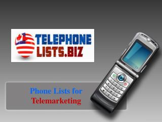 Tele phone Number Lists for Telemarketing USA & Canadian Bus