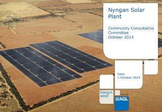 Nyngan Solar Plant Community Consultative Committee October 2014