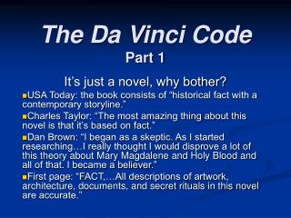 The Da Vinci Code Part 1