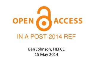 Ben Johnson, HEFCE 15 May 2014