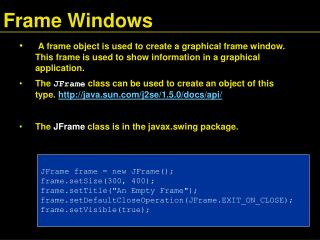 Frame Windows