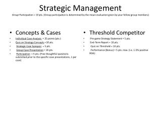 Concepts & Cases Individual Case Analysis   = 25 points (pts.)