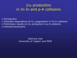 J/  production  in In-In and p-A collisions