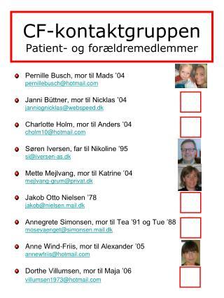 CF-kontaktgruppen Patient- og forældremedlemmer