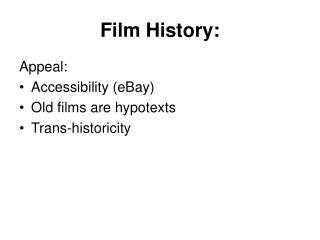 Film History: