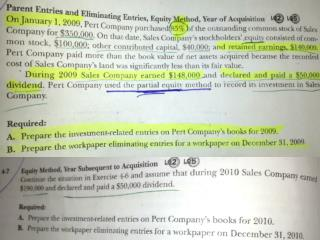 Exercise 4-6  Part A: Journal  Entries  Investment  in Sales     350,000