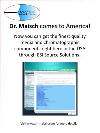 Visit  dr-maisch  for more details