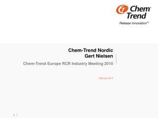 Chem-Trend Nordic  Gert Nielsen