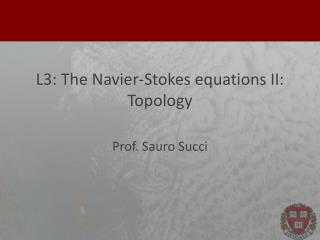 L3: The  Navier-Stokes equations  II: Topology
