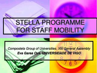 STELLA PROGRAMME  FOR STAFF MOBILITY