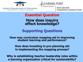 Essential Question How does inquiry                                           effect knowledge?
