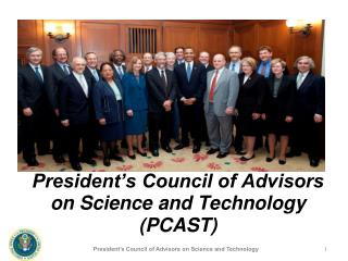President s Council of Advisors on Science and Technology