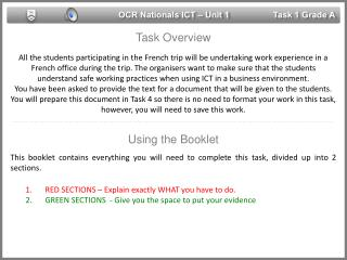 OCR Nationals ICT – Unit 1