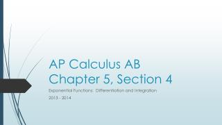 AP Calculus AB Chapter 5, Section 4