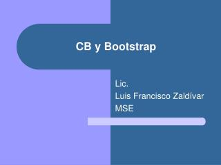 CB y Bootstrap