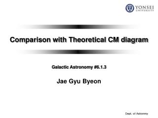 Comparison with Theoretical CM diagram