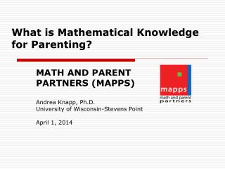 What is Mathematical Knowledge for Parenting?