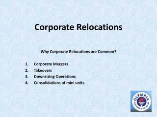 Corporate Relocation made easy