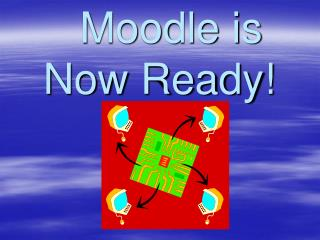 Moodle is Now Ready!
