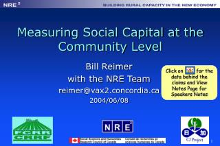 Measuring Social Capital at the Community Level