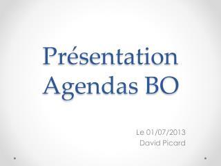 Présentation Agendas BO