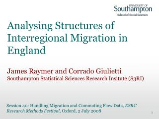 Analysing Structures of Interregional Migration in England