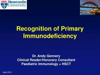 Recognition of Primary Immunodeficiency