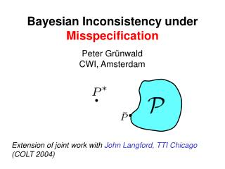Bayesian Inconsistency under  Misspecification