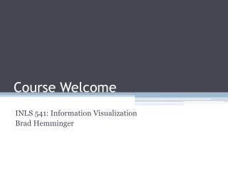 Course Welcome