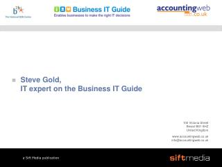 Steve Gold, IT expert on the Business IT Guide