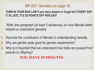 BR 3/21 Genetics on page 16