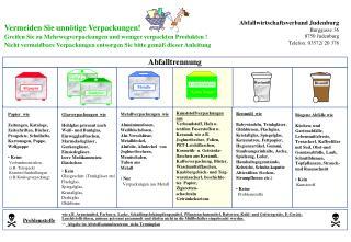 Abfallwirtschaftsverband Judenburg Burggasse 36  8750 Judenburg Telefon: 03572/ 20 376