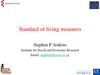 Standard of living measures