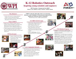 K-12 Robotics Outreach Inspiring young scientists and engineers