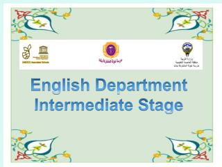 English  Department  Intermediate Stage