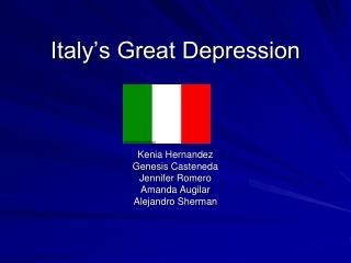 Italy's Great Depression