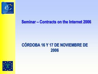 Seminar – Contracts on the Internet 2006