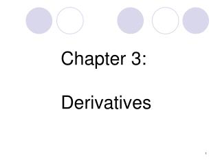 Chapter 3:  Derivatives
