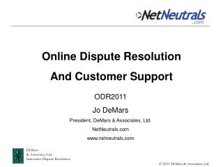 Online Dispute Resolution And Customer Support