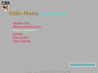 Main Menu  (Click on the topics below)