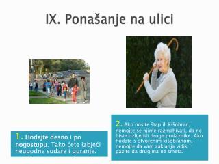 IX. Ponašanje na ulici