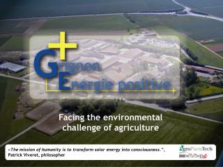 Facing the environmental challenge of agriculture