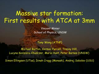 Massive star formation:   First results with ATCA at 3mm