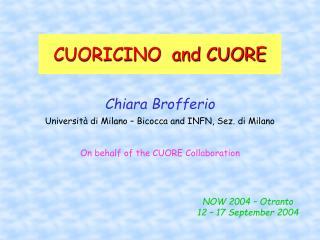 CUORICINO  and CUORE