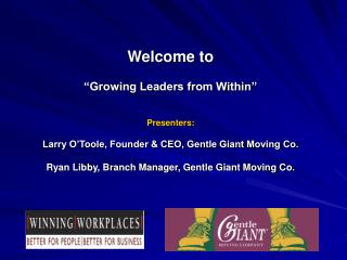 Growing Leaders From Within